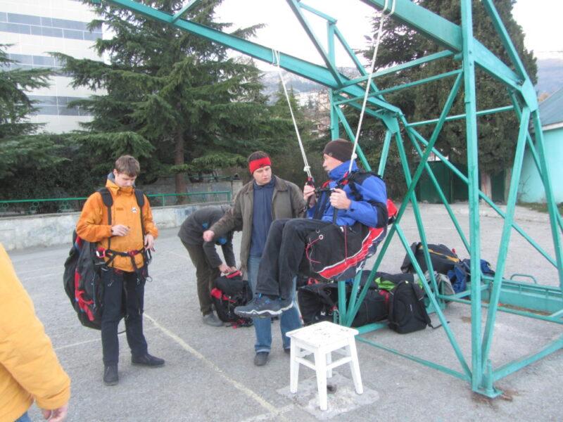 Тренировка по выбросу запаски